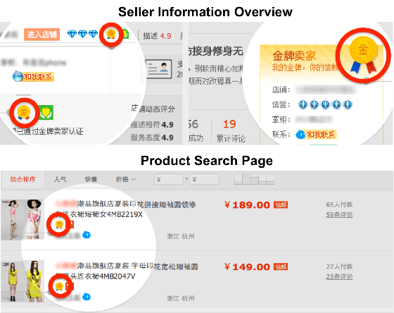 taobao seller page overview